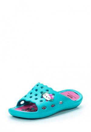 Сланцы Hello Kitty. Цвет: зеленый