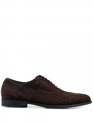 Туфли оксфорды с логотипом Fratelli Rossetti. Цвет: коричневый