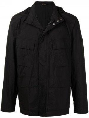 Куртка с капюшоном и потайной застежкой Barbour. Цвет: черный