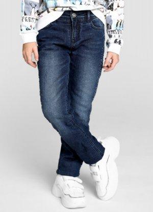 Утеплённые джинсы на флисовой подкладке O`Stin. Цвет: темно-синий