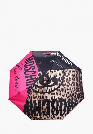 Зонт складной Moschino. Цвет: разноцветный