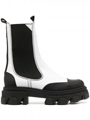 Высокие ботинки челси GANNI. Цвет: черный