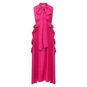 Платье-миди N21. Цвет: розовый