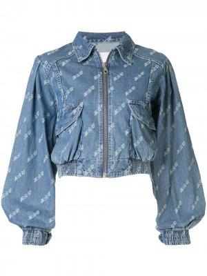 Укороченная джинсовая куртка Ground Zero. Цвет: синий