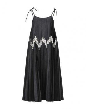 Длинное платье JIL SANDER. Цвет: черный