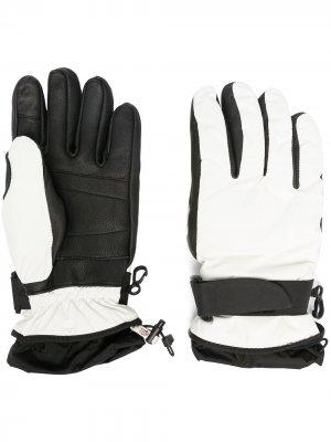 Перчатки с контрастными вставками Moncler Grenoble. Цвет: белый