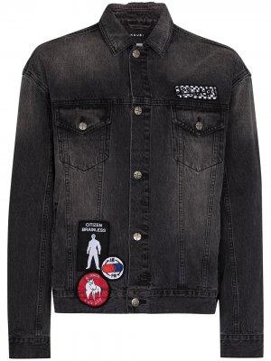 Джинсовая куртка Oh G Retox Ksubi. Цвет: серый