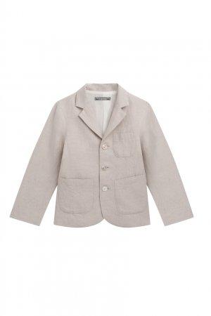 Бежевый пиджак на пуговицах Bonpoint. Цвет: multicolor