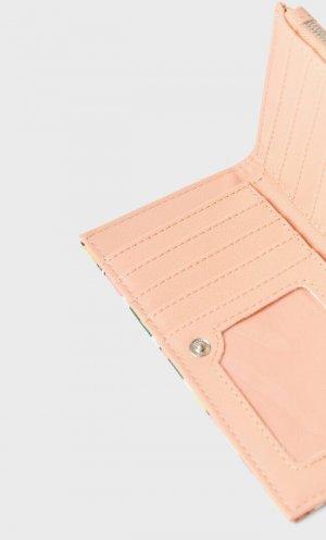 Кошелек Для Монет С Цветочным Принтом Женская Коллекция Пастельно-Розовый 103 Stradivarius. Цвет: пастельно-розовый