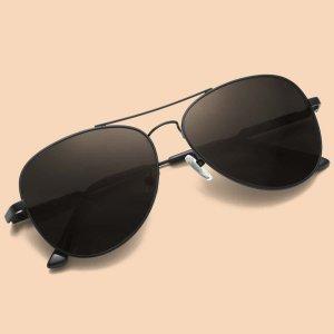Мужской Солнцезащитные очки-авиаторы SHEIN. Цвет: чёрный