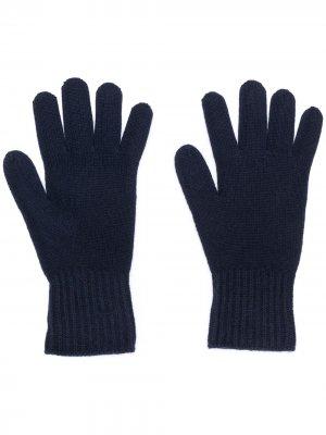 Кашемировые перчатки Agnona. Цвет: черный