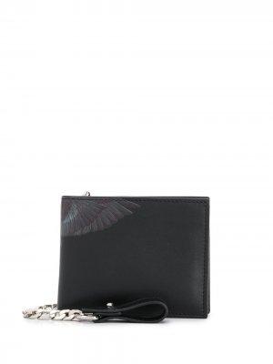 Бумажник с принтом Wings Marcelo Burlon County of Milan. Цвет: черный
