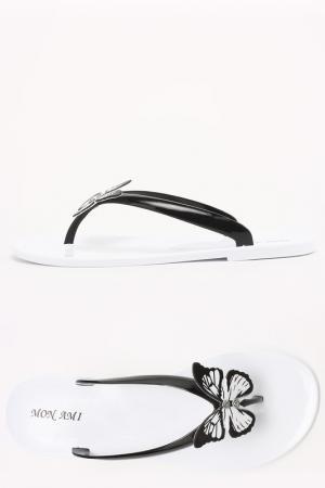 Босоножки Mon Ami. Цвет: black, white