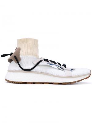 Кроссовки Run с вставкой носка adidas Originals by Alexander Wang. Цвет: белый