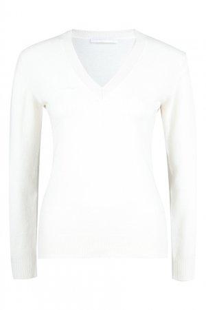 Белый шерстяной пуловер Fabiana Filippi. Цвет: белый