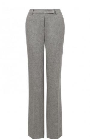 Расклешенные кашемировые брюки со стрелками Loro Piana. Цвет: светло-серый