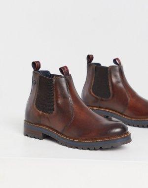 Коричневые кожаные ботинки челси -Коричневый цвет Base London