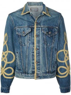 Джинсовая куртка с контрастным кантом R13