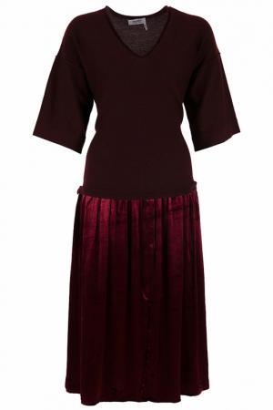 Платье SONIA BY. Цвет: бордовый