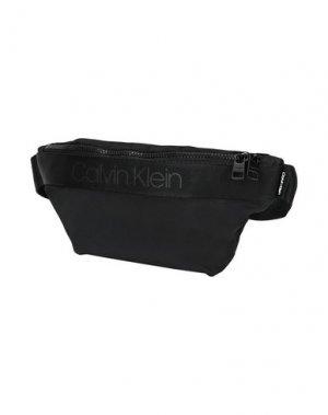 Рюкзаки и сумки на пояс CALVIN KLEIN. Цвет: черный
