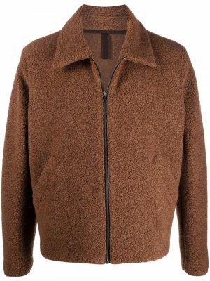 Фактурная куртка на молнии Harris Wharf London. Цвет: коричневый