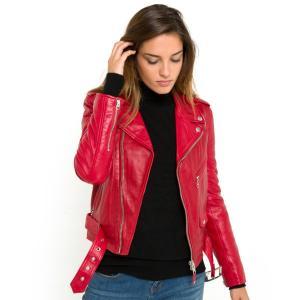 Куртка кожаная LCW 8600 SCHOTT. Цвет: черный