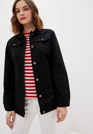 Куртка джинсовая Hailys Haily's. Цвет: черный