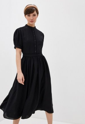 Платье Terekhov Girl. Цвет: черный