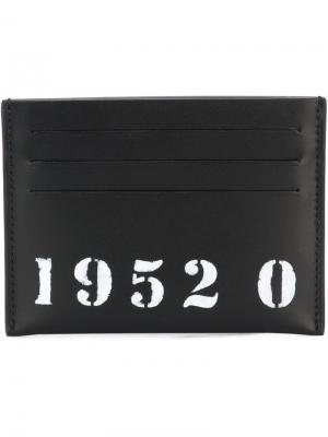 Визитница с принтом цифр Givenchy. Цвет: чёрный