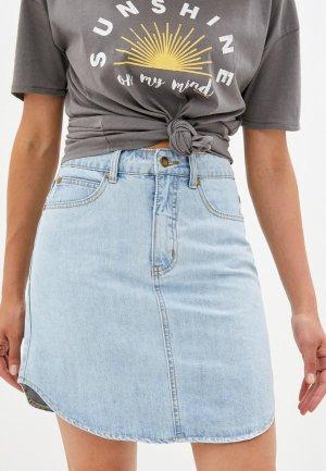 Юбка джинсовая Rip Curl SIERRA SKIRT. Цвет: голубой