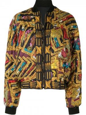 Бомбер pre-owned с принтом Hermès. Цвет: разноцветный
