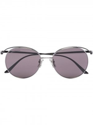 Round frame sunglasses Balenciaga Eyewear. Цвет: черный