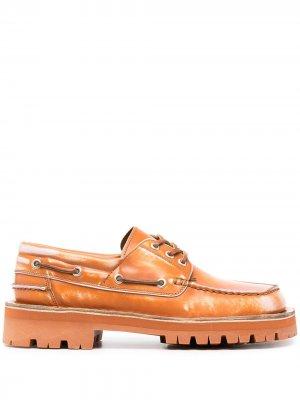 Топсайдеры на шнуровке CamperLab. Цвет: коричневый