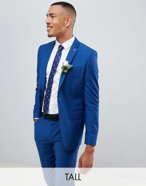 Синий приталенный пиджак Farah-Голубой Farah Smart