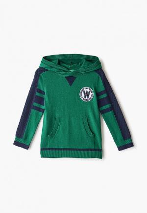 Худи United Colors of Benetton. Цвет: зеленый