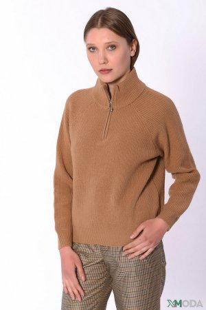 Пуловер Set. Цвет: коричневый