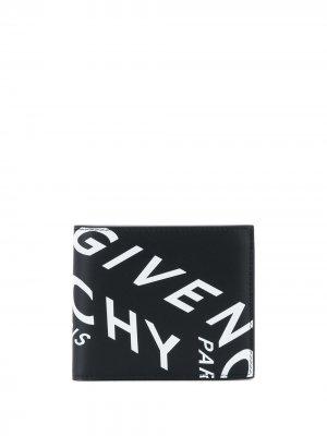 Кошелек с логотипом Givenchy. Цвет: черный