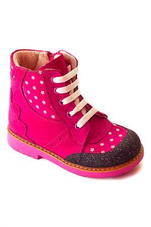 Ботиночки WOOPY. Цвет: розовый