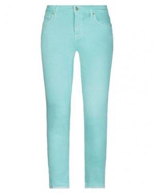 Повседневные брюки 7 FOR ALL MANKIND. Цвет: бирюзовый