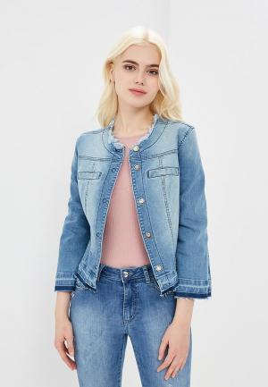 Куртка джинсовая Rinascimento RI005EWAZOT1. Цвет: голубой