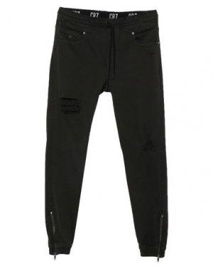 Джинсовые брюки CR7 CRISTIANO RONALDO. Цвет: темно-зеленый