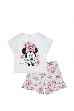Пижама PlayToday. Цвет: белый, светло-розовый, черный