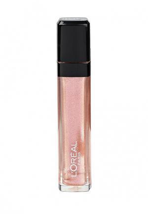 Блеск для губ LOreal Paris L'Oreal Infaillible, Мега Блеск, Безупречный, мерцающий, оттенок 211, Драгоценный Клуб, 8 мл. Цвет: розовый