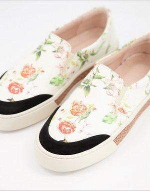 Кроссовки-слипоны с цветочным принтом Vita-Многоцветный Fiorelli