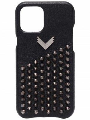 Декорированный чехол для iPhone 12 Pro Max Manokhi. Цвет: черный