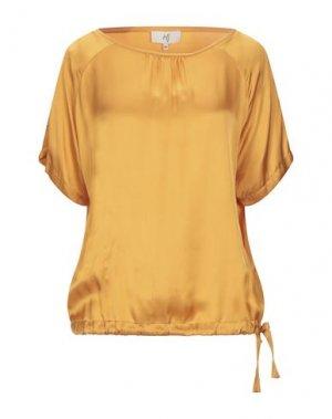 Блузка JEFF. Цвет: охра