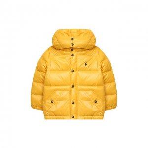Пуховая парка Ralph Lauren. Цвет: жёлтый