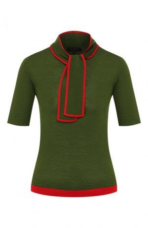 Шерстяной пуловер Escada. Цвет: зеленый
