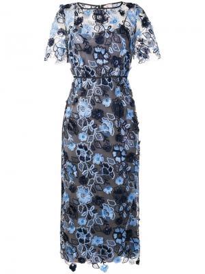 Платье миди с цветочной вышивкой Antonio Marras