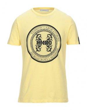 Футболка HAMAKI-HO. Цвет: желтый